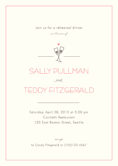 party invitations - Clink! by Kimberly FitzSimons