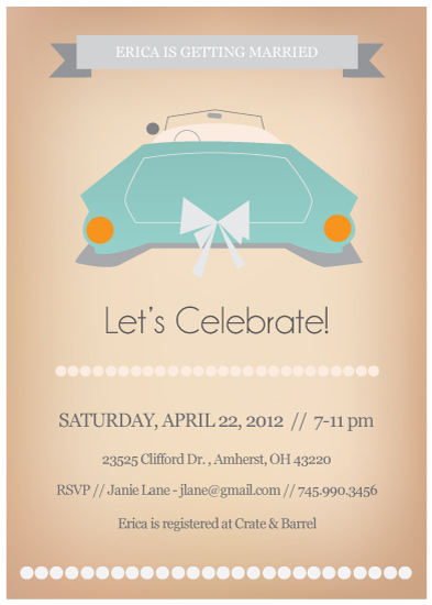 party invitations - Vintage Ride Bridal Shower Invitation by Hilary Buchanan