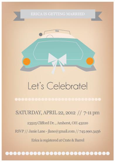 party invitations - Vintage Ride Bridal Shower Invitation by Hilary Buchanan