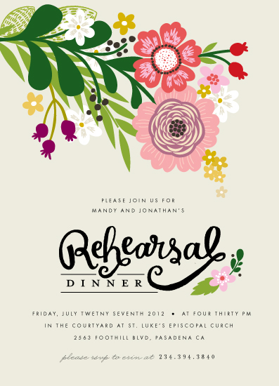 Minted garden party invitations