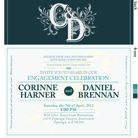 party invitations - Gardens and Villa by Andrew Harner
