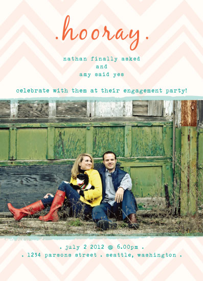 party invitations - hooray by Amy Weir