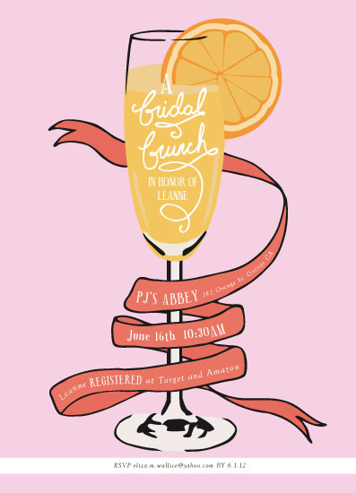 party invitations - Mimosa Brunch by Shiny Penny Studio
