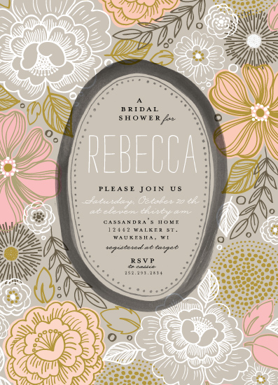 party invitations - Peony Frame by Alethea and Ruth