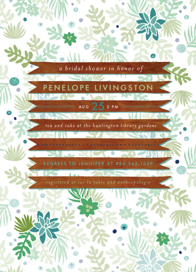 party invitations - Woodsy garden by Frooted Design