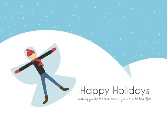 business holiday cards - Snow Angel by Josh Malchuk