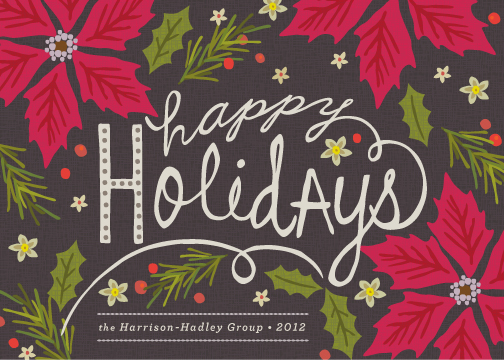 business holiday cards - Pointsettia Ball by Griffinbell Paper Co.