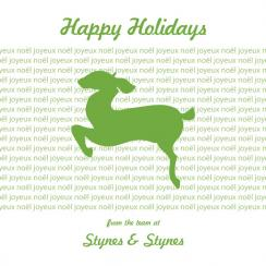 Leaping Deer Business Holiday Cards