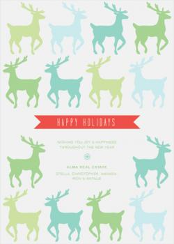 Deer Frenzy Business Holiday Cards