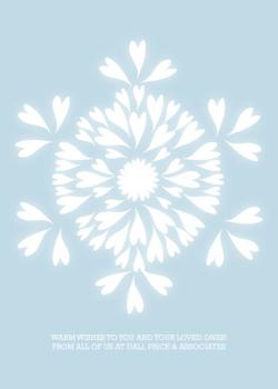 Snowflake Glow Business Holiday Cards