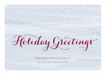 Wintry Mix Business Holiday Cards