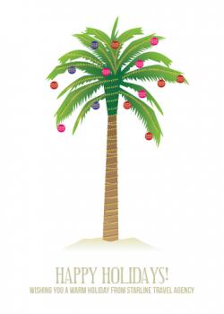 PALM TREE HOLIDAY Business Holiday Cards