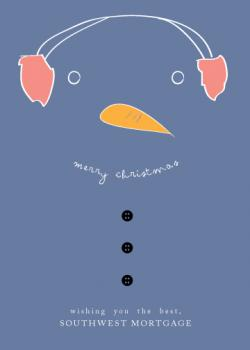 snowman greetings Business Holiday Cards