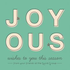 Joyous wishes and holly berries Business Holiday Cards