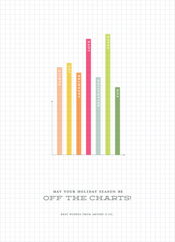 business holiday cards - Off The Charts Holiday by Stacey Hill