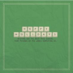 Keyboard Wishes Business Holiday Cards
