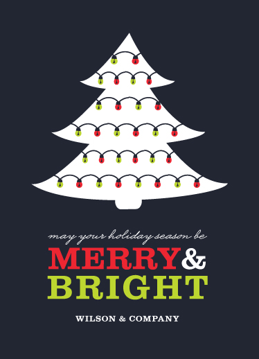 business holiday cards - Merry & Bright Holiday by Serenity Avenue