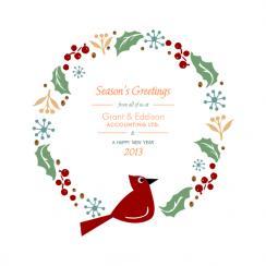 Cardinal Wreath Business Holiday Cards