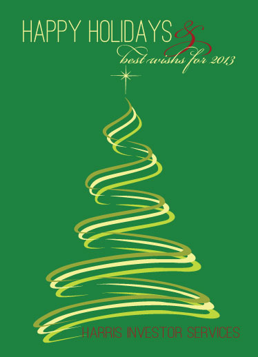 business holiday cards - tree swirls