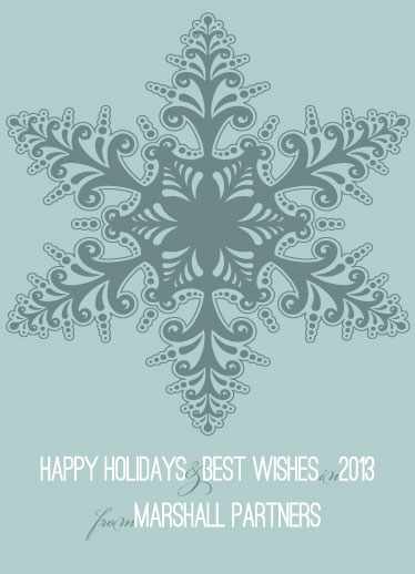 business holiday cards - softsnowflake