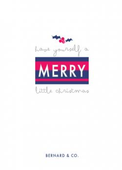 merry little christmas Business Holiday Cards