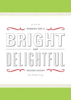 Typographic Holiday Business Holiday Cards