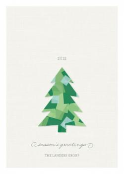 Cut Paper Business Holiday Cards