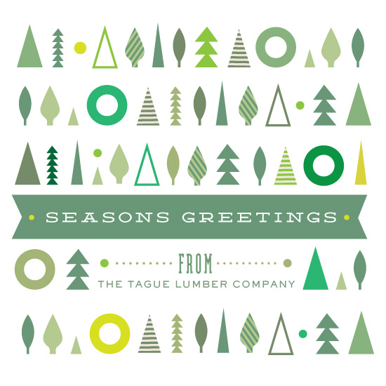 business holiday cards - Tree Holiday by Very Special Devices