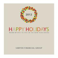 Edgy Wreath Business Holiday Cards