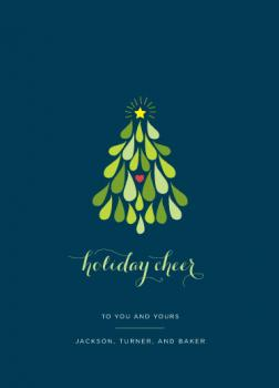 Green Tree Business Holiday Cards