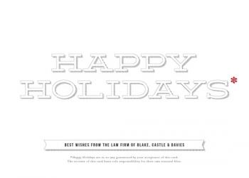 Small Print Business Holiday Cards