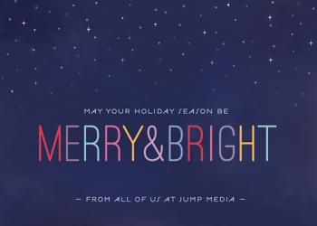 Starry + Bright Business Holiday Cards
