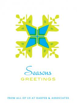 Big Snowflake Business Holiday Cards