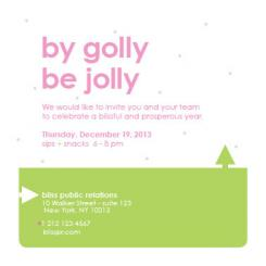 By Golly Be Jolly Business Holiday Cards