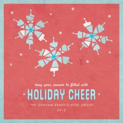 Deconstructed Snowflakes Business Holiday Cards