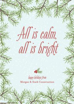 Calm and Bright Business Holiday Cards