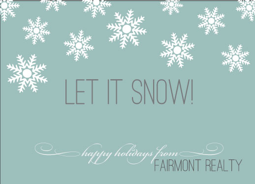 business holiday cards - snowday