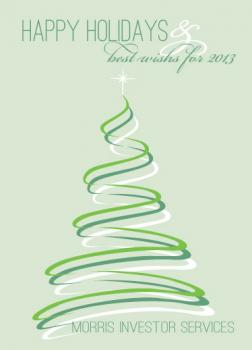 tree swirls Business Holiday Cards
