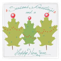 Holiday Leaves Business Holiday Cards
