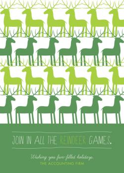 Repeating Reindeer Business Holiday Cards
