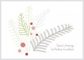 Pines and Berries Business Holiday Cards