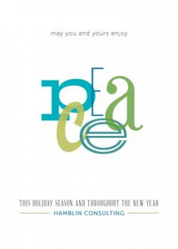 Simply Peace Business Holiday Cards