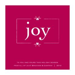 Joy in Red Business Holiday Cards