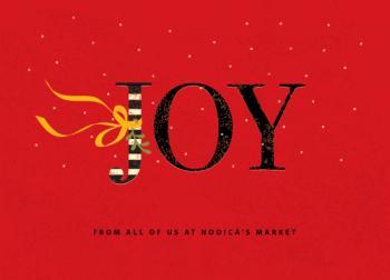 Joy Walking Business Holiday Cards