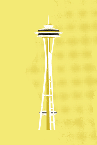 art prints - Seattle Space Needle Flare by Serenity Avenue