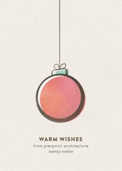retro ornament Business Holiday Cards