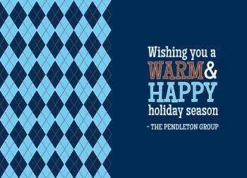 Warm Argyle Greetings Business Holiday Cards