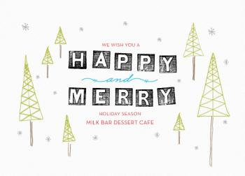 happy and merry Business Holiday Cards