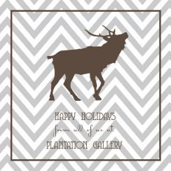 Stylish Moose Business Holiday Cards