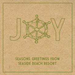 A VERY BEACHY CHRISTMAS Business Holiday Cards